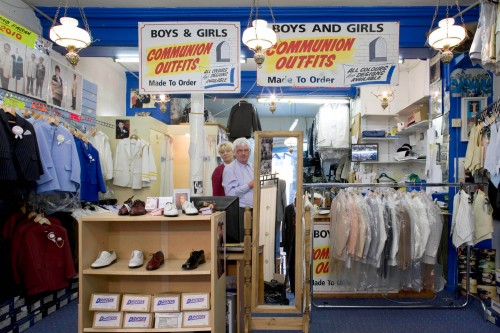 A famous retails on thomas street Dublin, Communion uniforms are a speciality